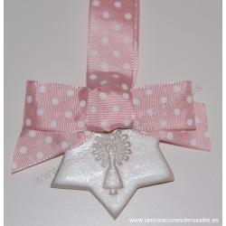 """Medalla Estrella rosa bebe """"PILARICAS"""""""