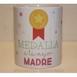 Taza Medalla Mejor Madre