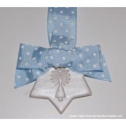 """Medalla Estrella azul bebe """"PILARICAS"""""""