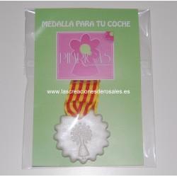 """Medalla redonda coche Aragón """"PILARICAS"""""""