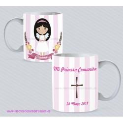 Taza Comunión Niña angelita personalizada