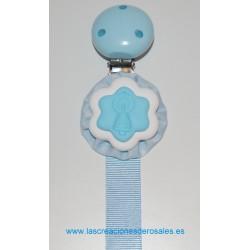 "Chupetero Virgen del Pilar azul bebe ""PILARICAS"""