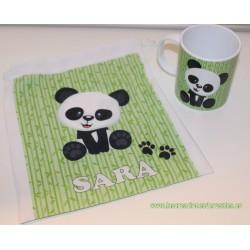 Pack Oso Panda Verde (Taza+Bolsita)