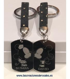 """Pack 2 llaveros """"Minnie & Mickey Personalizados"""""""