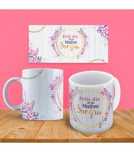 """Taza Floral """"Feliz Día de las Madres. Suegra"""""""