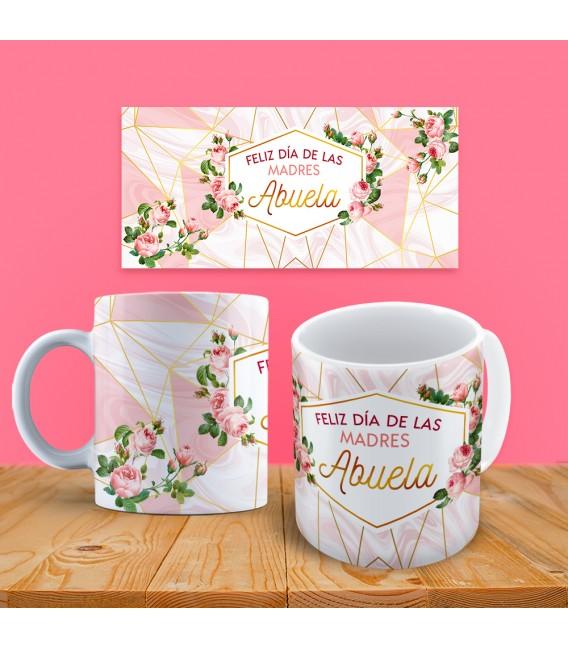 """Taza Floral """"Feliz día de las Madres. Abuela"""""""