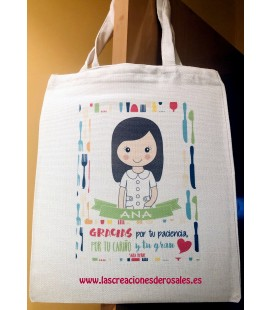 "Bolsa Tote Bag personalizable ""Monitoras Comedor"""
