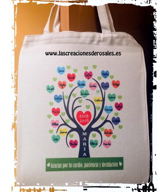"""BolsaTote Bag """"Arbol corazones"""""""
