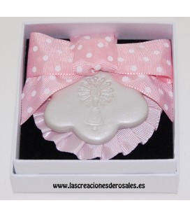 "Medalla 1 flor rosa ""PILARICAS"""
