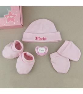 Cajita Set Recién Nacido Rosa
