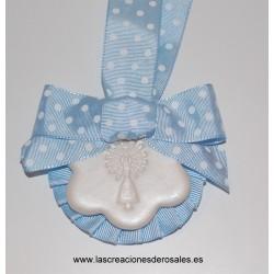 "Medalla 1 Flor azul ""PILARICAS"""