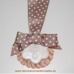 Medalla 1 Flor Beige PILARICAS