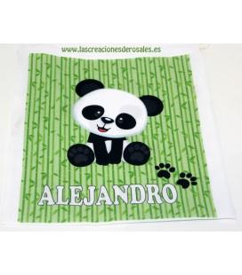 Bolsita Almuerzo Oso Panda Verde