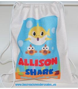 Bolsa Saco Baby Shark personalizada