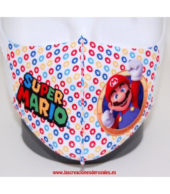 Mascarilla Infantil Super Mario