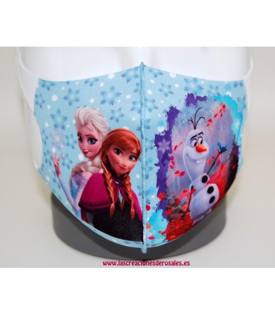 Mascarilla Infantil Frozen copos de nieve