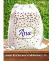 Bolsa saco Confeti Lila Personalizada