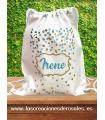 Bolsa saco Confeti turquesa Personalizada